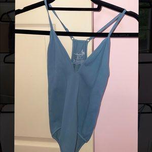 Free people blue bodysuit